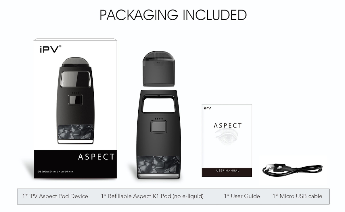 IPV ASPECT POD SYSTEM PACKING INCLUDE