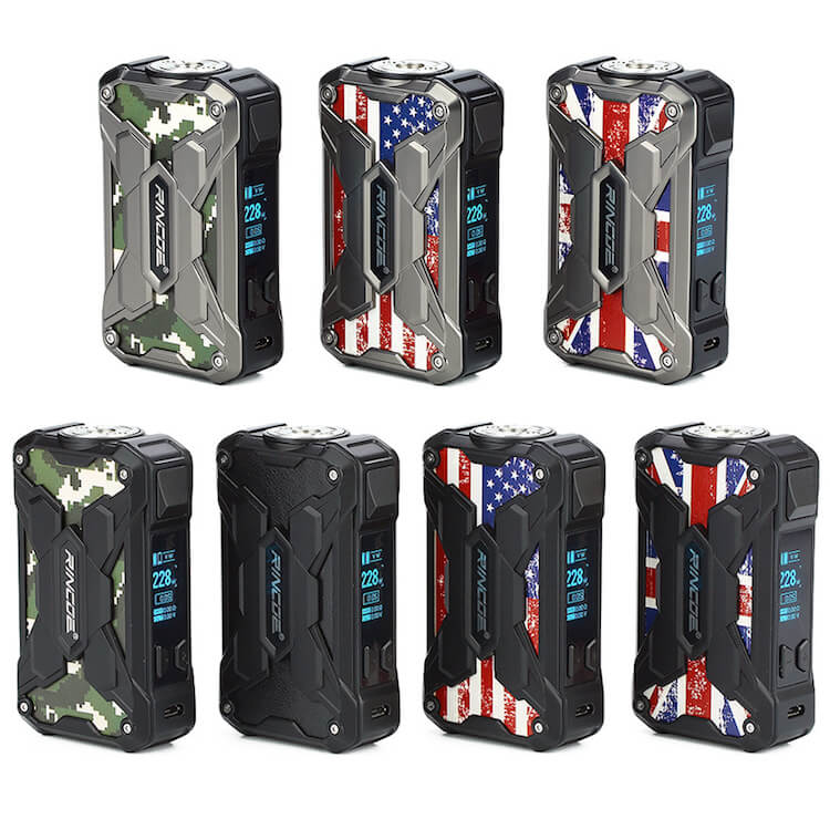 RINCOE Mechman Steel 228W Box Mod
