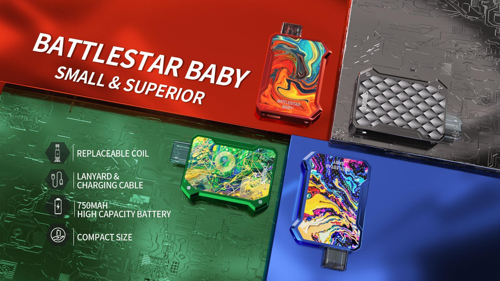 Smoant Battlestar Baby Pod KIt Banner