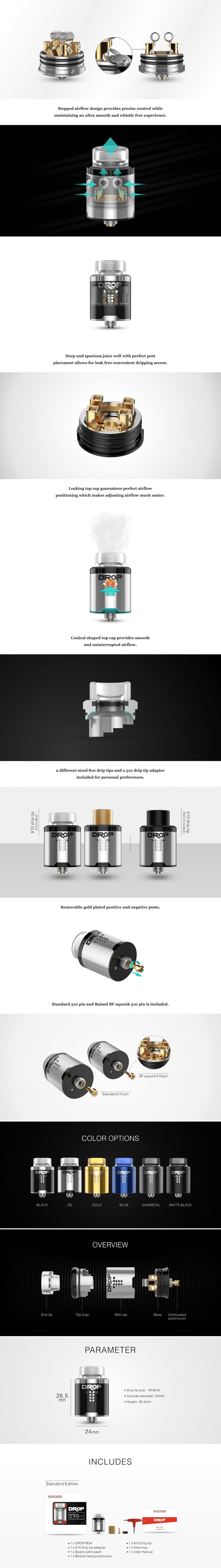 DROP SOLO 22mm RDA oleh Digiflavor dan The Vapor Chronicles